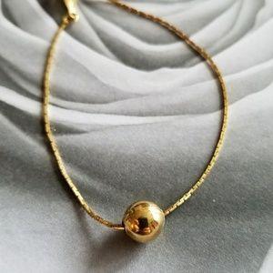 Dainty golden ball bracelet gold tone by Napier